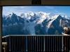 Massif du Mont Blanc<br/>vue par télécabine du Brévent