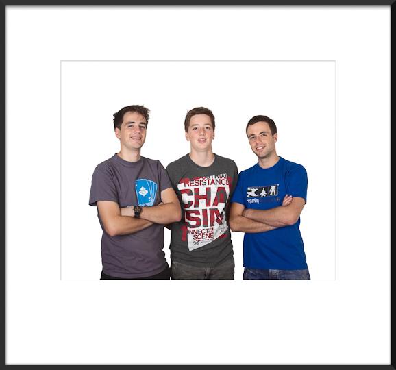 Steven, Sander en Jasper Polak.<br/>Oktober 2011